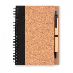 Cork notebook with pen...