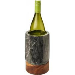 Harlow marble and wood wine...