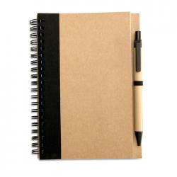 Recycled paper notebook + pen Sonora plus