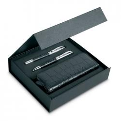 Pen set and pouch in pu case Annecy