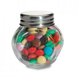 Chocolates in glass holder Chocky