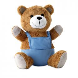 Bear plush w advertising pants Nico