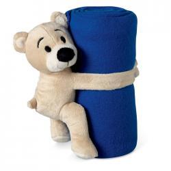 Fleece blanket with bear Manta