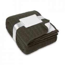 Blanket, cable acrylic sherpa Chamonix