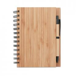 Bamboo notebook with pen Bambloc