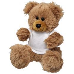 Fred plush sitting teddy bear with shirt
