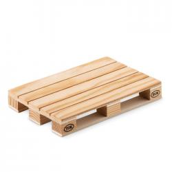 Wooden coaster in pallet shape Paly