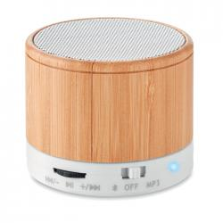 Bluetooth speaker Round bamboo