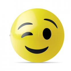 Beach ball with wink emoticon Winky