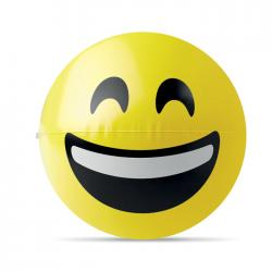 Beach ball with laugh emoticon Smily