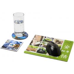 Q-Mat® mouse mat and coaster set combo 1