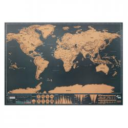 Scratch world map 42x30cm Been there
