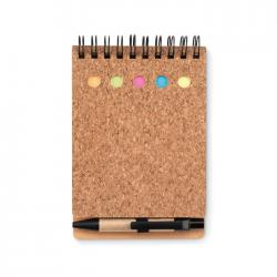 Cork notebook and sticky...