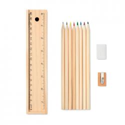 Stationery set in wooden...