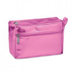 Cosmetic bag in shiny pvc...